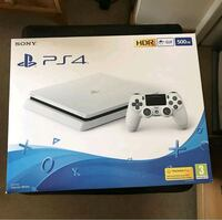 white Sony PS4 console box Manchester, M22