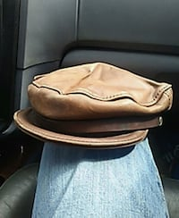 brown leather flat cap Cohutta, 30710
