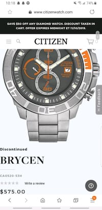 Citizen Titanium Eco drive Divers Watch