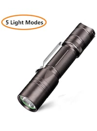 LED Flashlight, Super Bright 900 Lumens CREE LED Tactical Flashlight Torch, Rechargeable (18650 Battery Included), IP67 Water Resistant, 5 Light Mode 圣地亚哥, 92123