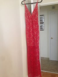 red and white floral sleeveless dress Toronto, M3N 1A1