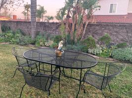 Vintage patio table set for