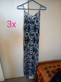 black and white floral spaghetti strap dress Edmonton, T6K