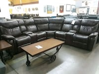 black leather sectional sofa with ottoman 1157 mi