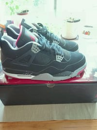 Nike Air Jordan 4   black cement /grey/ fire red.  size 44.   uk 9. Grünerløkka, 0175