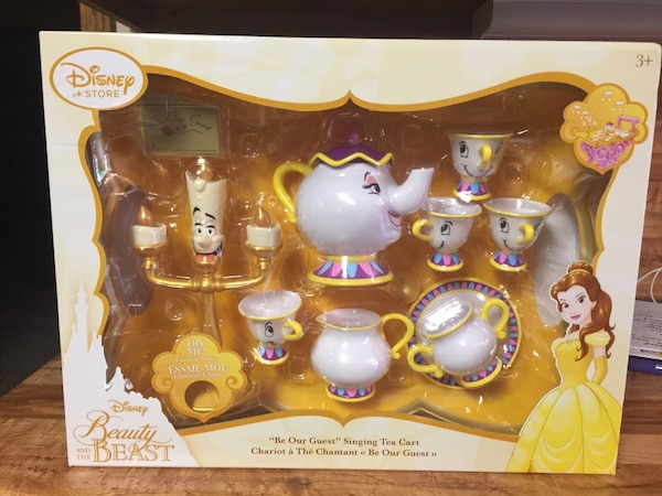 Used Beauty And The Beast Singing Tea Cart This Is The Disney Store
