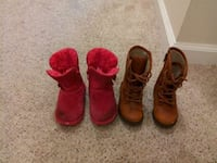 two pairs of red and brown boots Leesburg, 20176