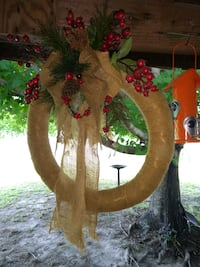 brown and red floral wreath Hallsboro, 28442