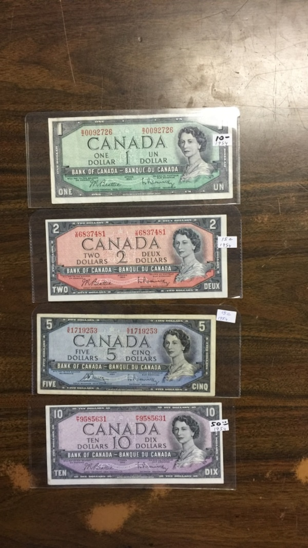 1954 Canadian Currency
