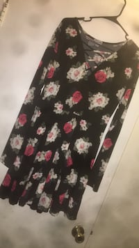 black and pink floral sleeveless dress Gaithersburg, 20877