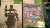 two Call Of Duty MW3 and Minecraft Xbox 360 game case Russell, 67665