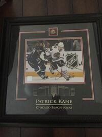 """Patrick Kane signed framed pic from rookie season with COA 19.5""""x19.5"""" Edmonton, T6W 2M4"""