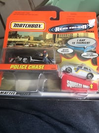 1998 Matchbox Real Talkin' Packs Police Chase