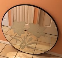 Large Custom etched mirror.  Palm City, 34990