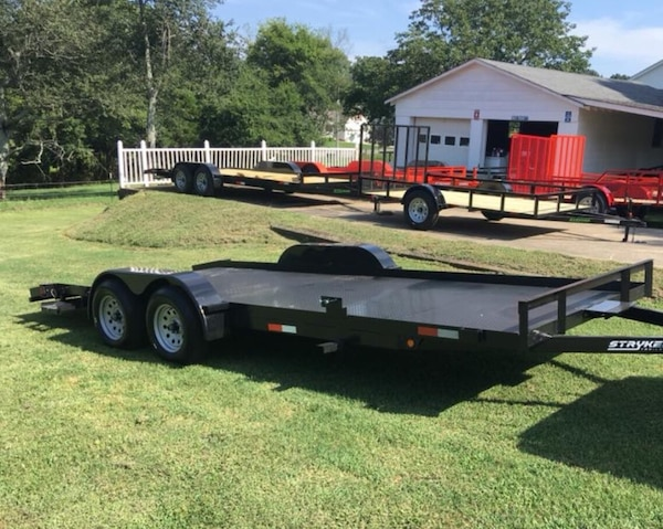 Car Trailer Winch >> New 7x20 Stryker Deluxe Dovetail Car Hauler Trailer With Removable Fender Winch Plate Spare Mount