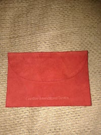 Red suede Leather Cartier Pouch