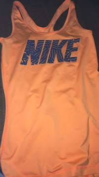 Orange and blue Nike razor back tank top
