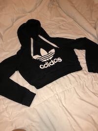 Black and white adidas cropped pullover hoodie Langford, V9B 4G9