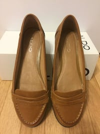 Aldo tiff loafer leather tan cognac brown size 39 = womens 8.5 9 Vancouver