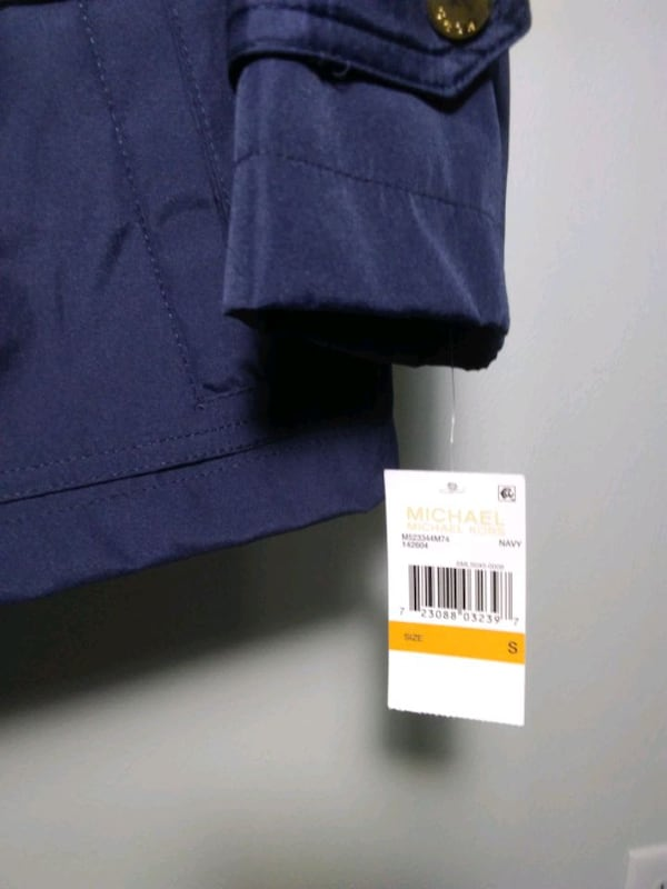 Michael Kors rain coat. Size S. Navy blue. New with tags. Retail $220. 4