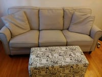 Beige couch and ottoman Woodbridge Township