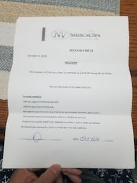 NV Medical Spa redeemable gift vouchers - 3 availa Vaughan