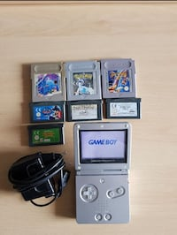 GAME BOY ADVANCE SP + 7 GIOCHI ORIGINALI  Velletri, 00049