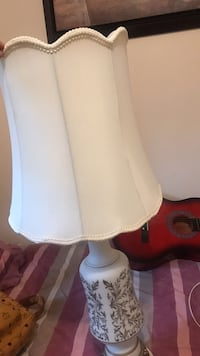 White and red table lamp Vaughan