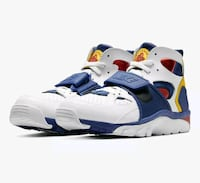 Nike Air Trainer Huarache Sneakers White Regency Purple Amarillo Gold Arlington, 22204