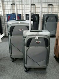 two gray-and-black travel luggage Pico Rivera, 90660