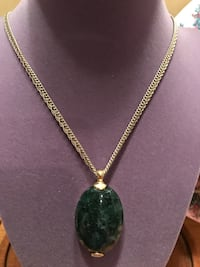 Gorgeous! Green Stone Gold Necklace Gainesville, 20155