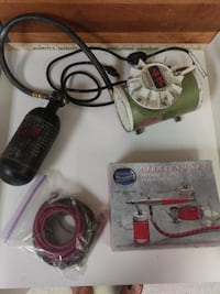 Paasche Airbrush Kit with Air Compressor and Accessories Bend