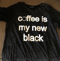 New Black Coffee T-shirt size S, M, and L San Angelo, 76904