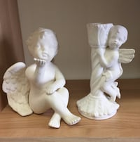 Two Decorative Angel Cherub Decorative Pieces Candle Holder and Figurine Mississauga, L4W 1R9