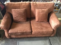 brown fabric 2-seat sofa Duncan, V9L