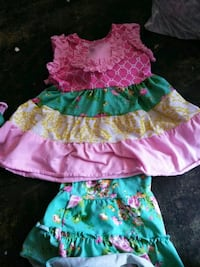girl's pink and green floral dress Odessa, 79764