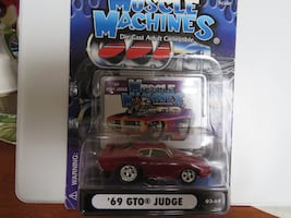 Muscle Machines Diecast '69 Pontiac GTO Judge Rarely Offered