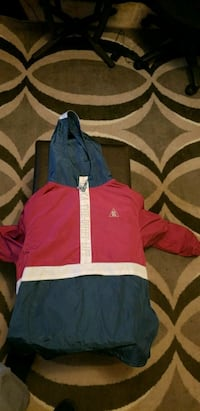 red and blue zip-up jacket Raleigh, 27608