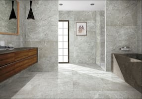 Calacata Zera Grey: 72x36 Porcelain Tile- 20% OFF (no tax)