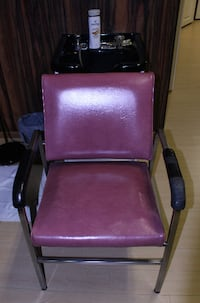 purple and black metal armchair TORONTO
