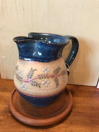 Pretty Stoneware Pitcher with detailed design  33 km