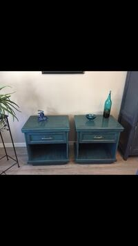 two black wooden side tables Calgary, T3R 0Z7