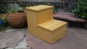 New childs step stool or pet stairs Cowboy tan!