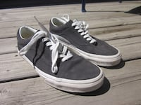 Vans Old School Black Leather Suede Low Cut Fashion Skate Shoes - Size 8.5 men's, 10 ladies Winnipeg