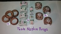 Table Napkin Rings -- $1 each - Variety of Designs Gaithersburg