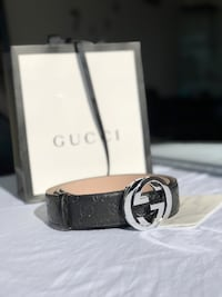 Gucci Black Leather Belt Ottawa