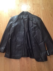 Brand new with tags Men's size Large brown lamb skin leather jacket