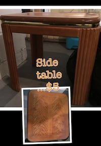 brown wooden side table Kenosha, 53143