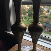 Pair of Brass Egyptian Style Vases  Niagara Falls, L2G 2B5