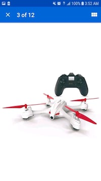 white and red quadcopter drone 55 km
